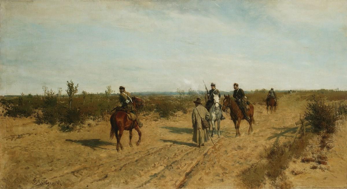 """Maksymilian Gierymski, """"Patrol powstańczy"""", 1872-1873, wł. Muzeum Narodowe w Warszawie; foto Piotr Ligier (źródło: materiały prasowe organizatora)"""