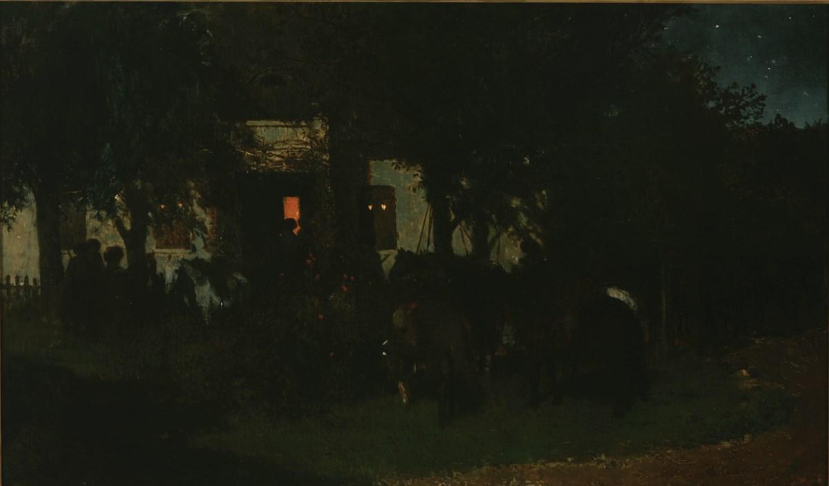 """Maksymilian Gierymski, """"Rewizja nocna"""", 1872, wł. Muzeum Narodowe w Poznaniu (źródło: materiały prasowe organizatora)"""