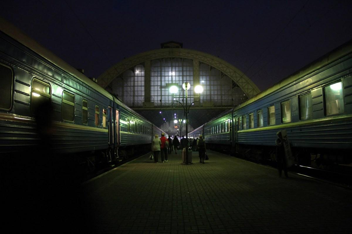 """Fot. Agata Chmielecka, """"Dworzec we Lwowie"""", Barwy nocy, I miejsce (źródło: materiały prasowe organizatora)"""