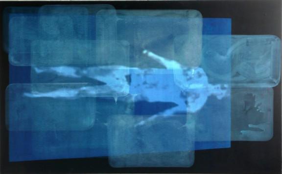 """Dominik Lejman, """"Nothing to Add"""", 2011. Akryl na płotnie, projekcja wideo. Dzięki uprzejmości SOR Rusche Sammlung (źródło: materiały prasowe organizatora)"""