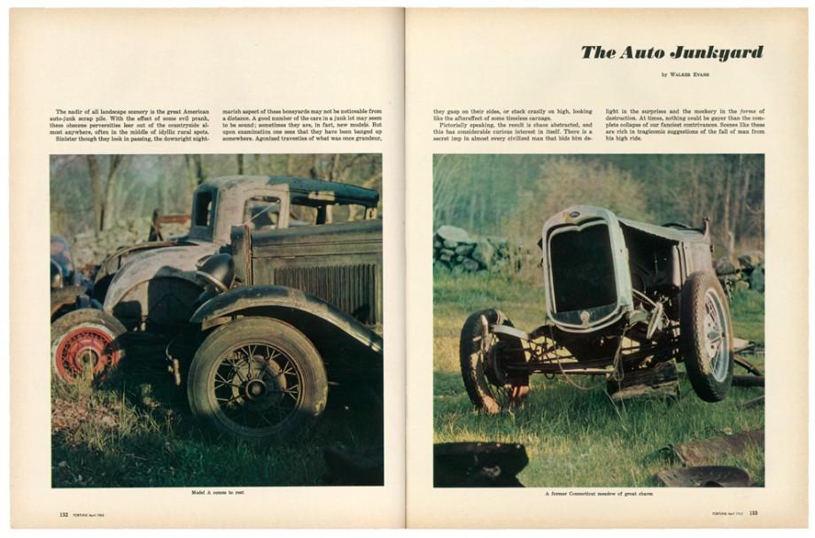 """Walker Evans, """"Cmentarzysko samochodów"""", """"Fortune"""", kwiecień 1962. Dzięki uprzejmości The Metropolitan Museum of Art (źródło: materiały prasowe organizatora)(źródło: materiały prasowe organizatora)"""