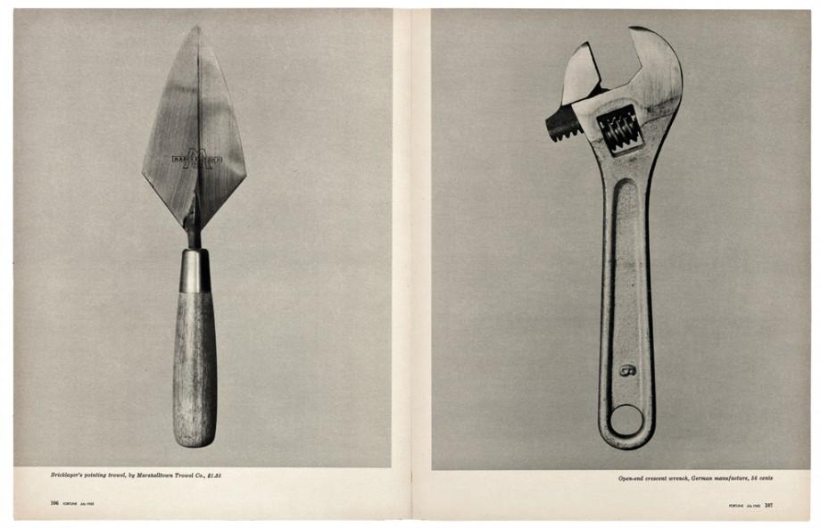 """Walker Evans, """"Piękno pospolitego narzędzia"""", """"Fortune"""", czerwiec 1955. Dzięki uprzejmości The Metropolitan Museum of Art (źródło: materiały prasowe organizatora)"""