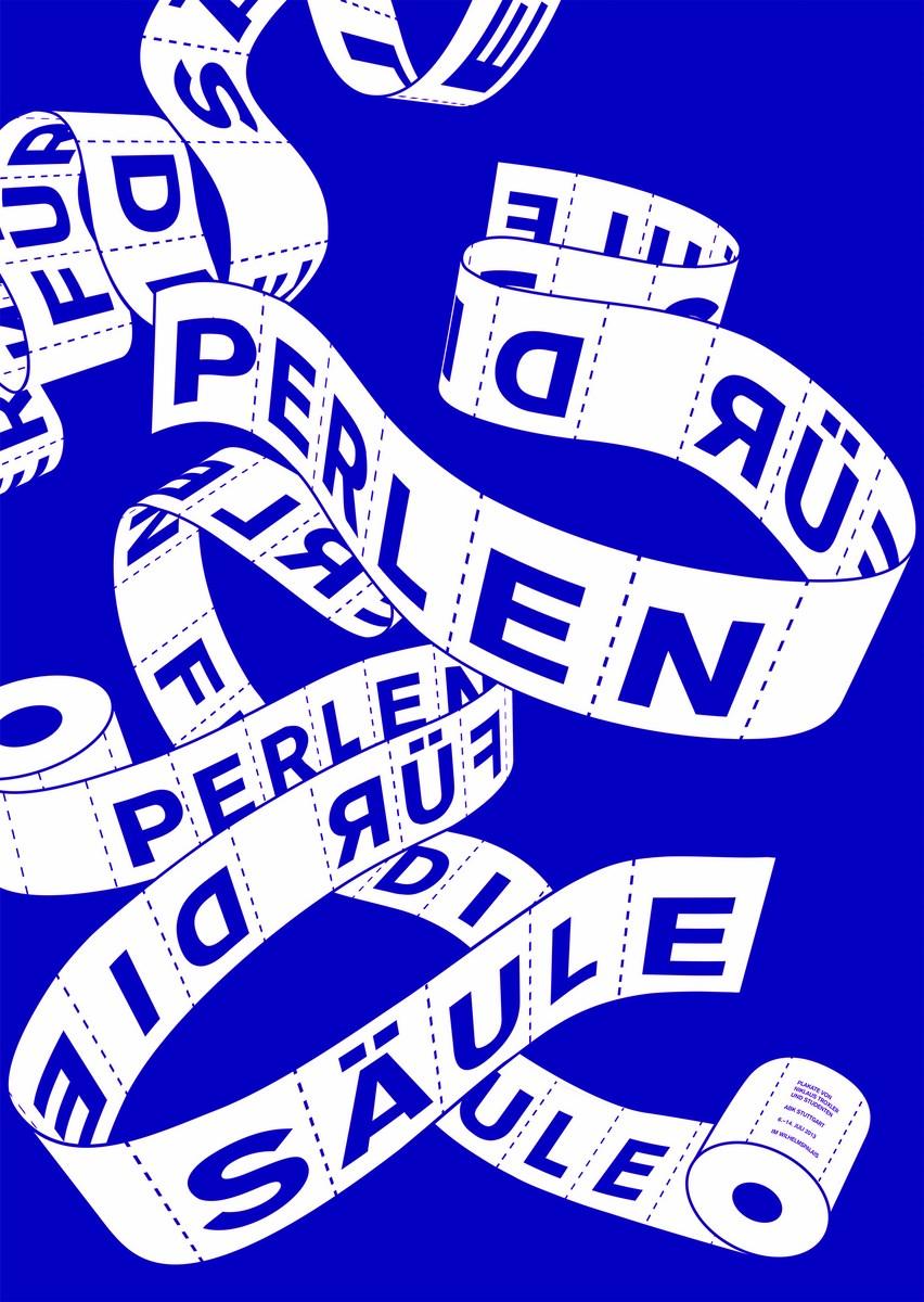 """Jonathan Auch Polska, """"Perły na słupie"""", 2013, sitodruk, 84,1 × 59,4, Akademia Sztuk Pięknych w Stuttgarcie (źródło: materiały prasowe organizatora)"""