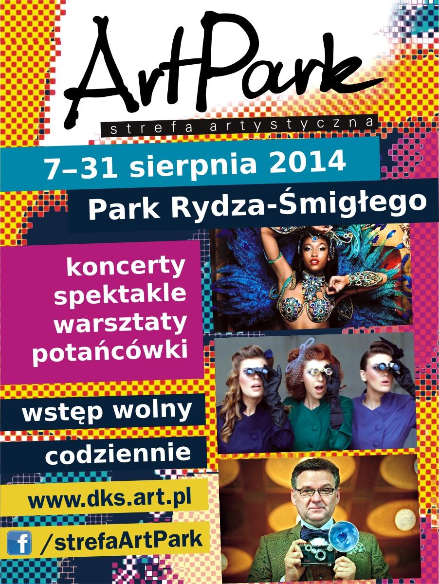 """""""ArtPark – strefa artystyczna"""" – plakat (źródło: materiały prasowe)"""