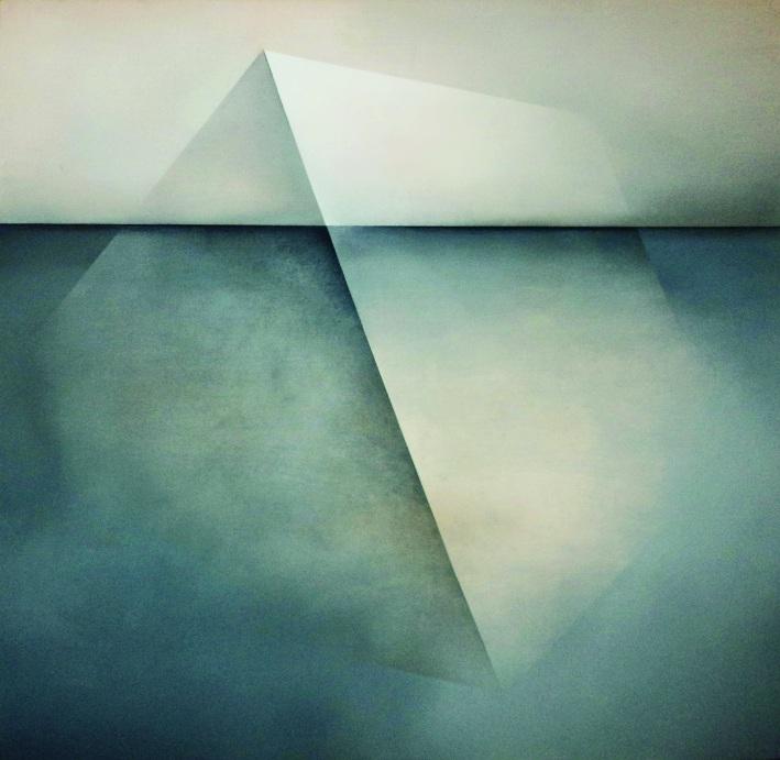 """Karolina Jaklewicz, """"Depresja"""", 100x100 cm, akryl, płótno, 2011 (źródło: materiały prasowe organizatora)"""