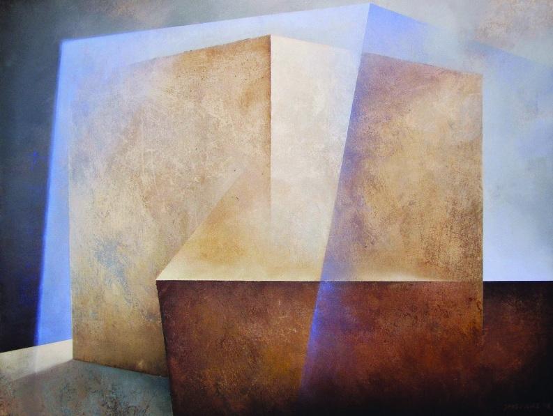 """Karolina Jaklewicz, """"Druga przestrzeń"""", 130x100 cm, akryl, płótno, 2010 (źródło: materiały prasowe organizatora)"""