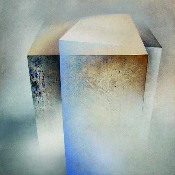 """Karolina Jaklewicz, """"Jutro"""", 100x100 cm, akryl, płótno, 2010 (źródło: materiały prasowe organizatora)"""