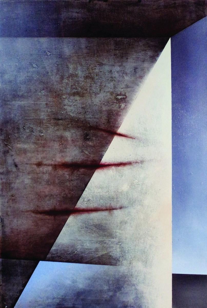 """Karolina Jaklewicz, """"Pamiątka"""", 120x80 cm, akryl, płótno, 2012 (źródło: materiały prasowe organizatora)"""
