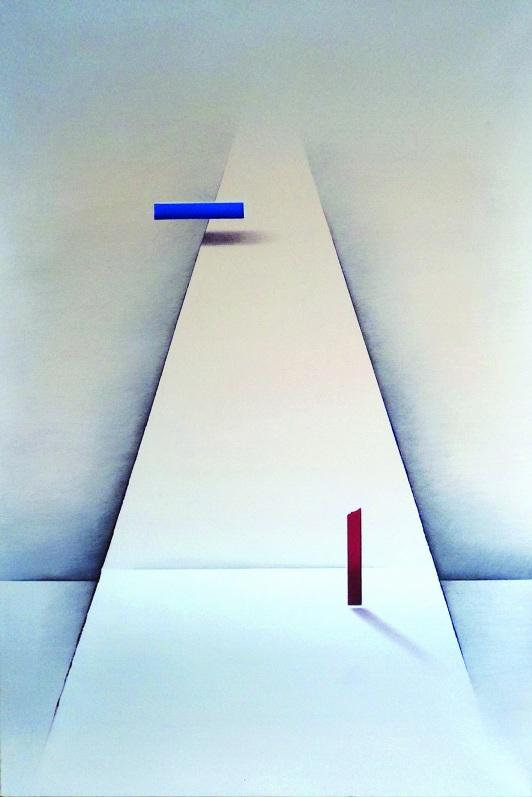 """Karolina Jaklewicz, """"Próba porozumienia"""", 120x80 cm, akryl, płótno (źródło: materiały prasowe organizatora)"""