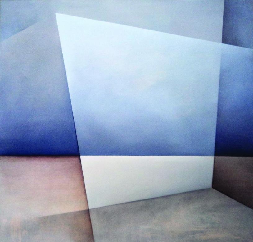 """Karolina Jaklewicz, """"Rozpad"""", 110x100 cm, akryl, płótno, 2011 (źródło: materiały prasowe organizatora)"""