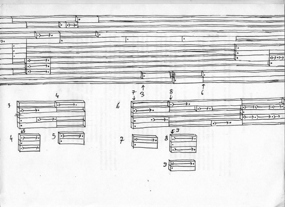 """Jan Rusiński, """"Klopstanga"""", szkic przekroju matrycy, tusz, papier, 2014 (źródło: materiały prasowe organizatora)"""