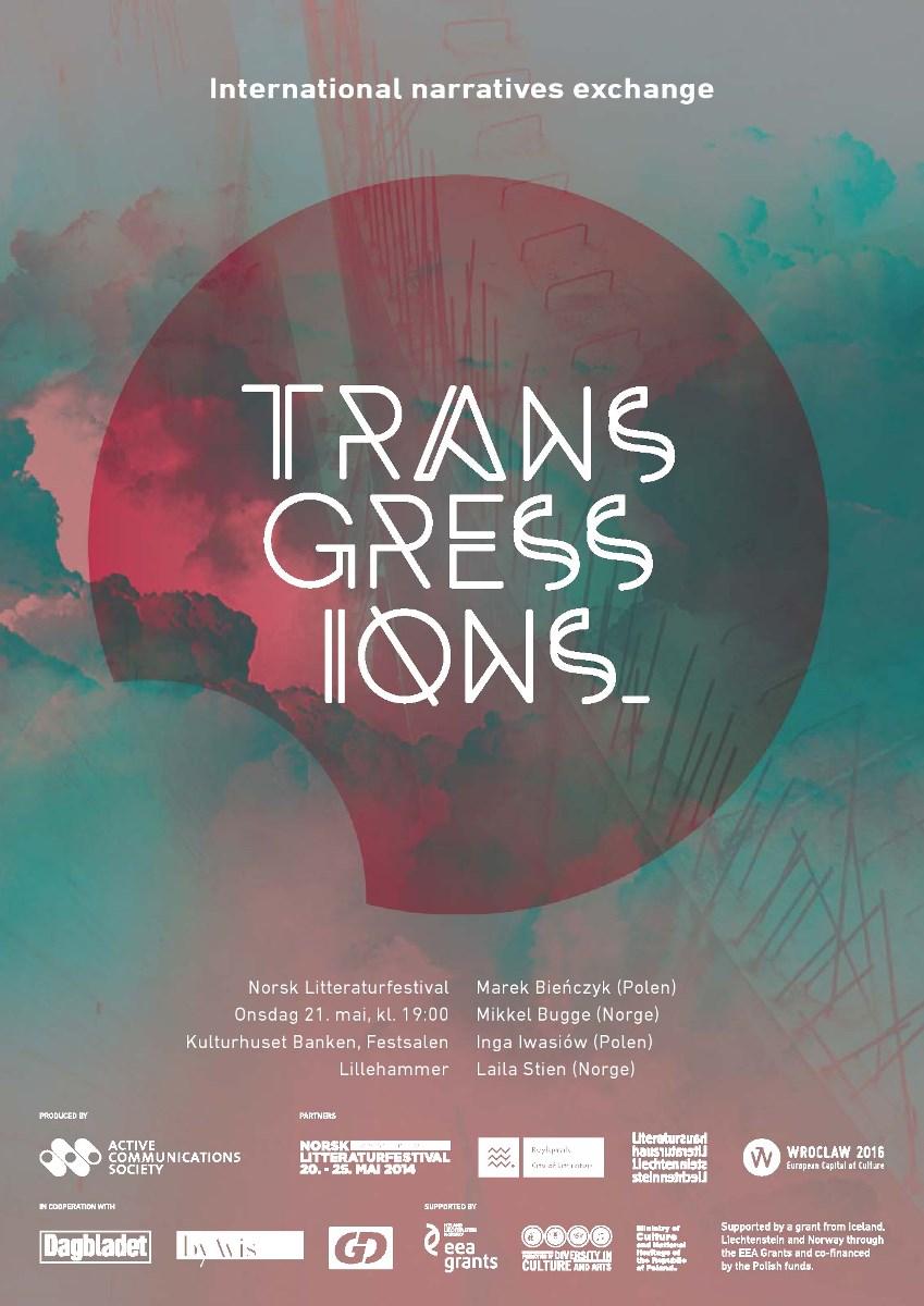 """10. Międzynarodowy Festiwal Opowiadania, """"Transgresje"""" – plakat (źródło: materiały prasowe)"""