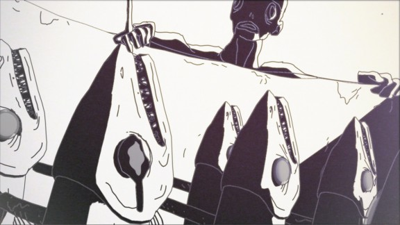 """Kadr z animacji Tomka Popakula """"Ziegenort"""", (źródło: materiały prasowe organizatora)"""