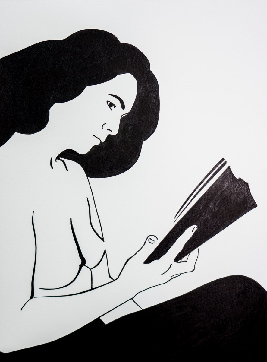 """Agata Bosacka, """"Czytająca"""" (źródło: materiały prasowe organizatora)"""