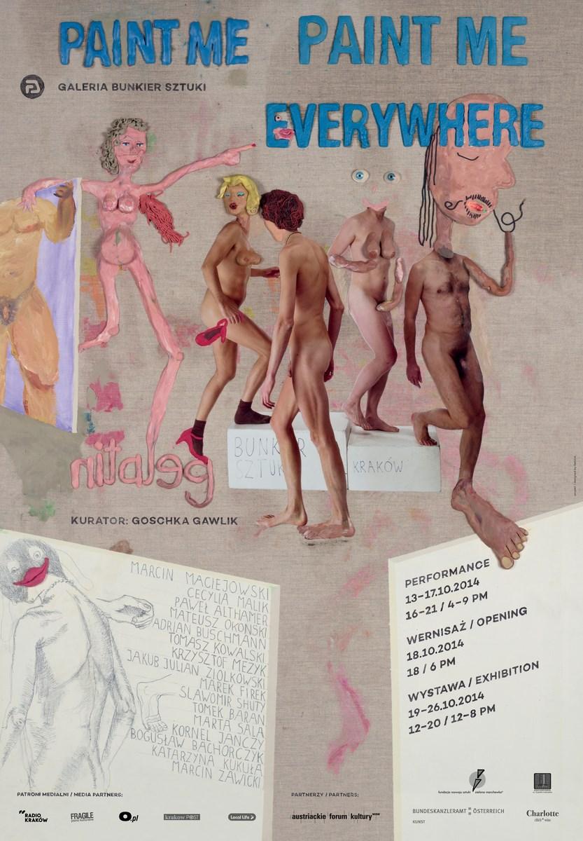 Gelatin, plakat wystawy, Bunkier Sztuki w Krakowie (źródło: materiały prasowe organizatora)