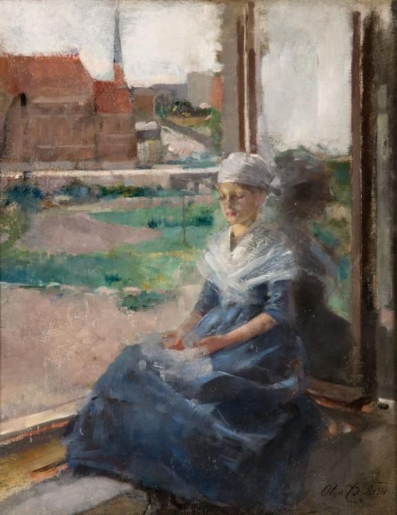 """Olga Boznańska, """"Bretonka"""", 1890, wł. Muzeum Narodowe w Krakowie (źródło: materiały prasowe organizatora)"""