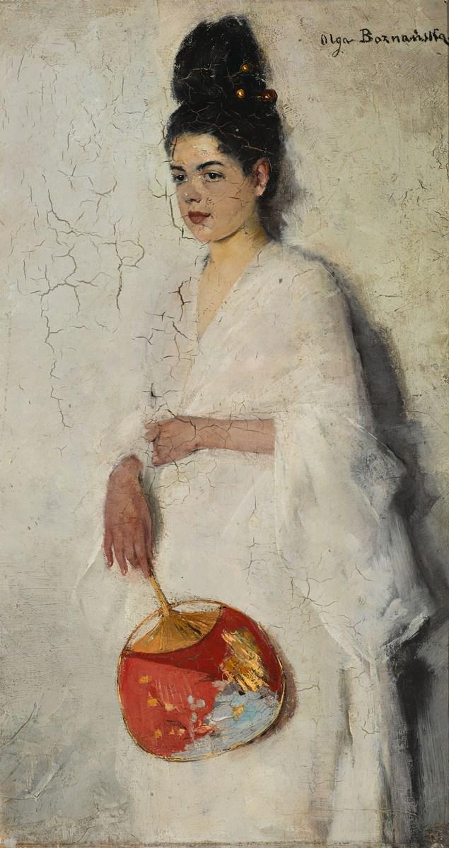 """Olga Boznańska, """"Japonka"""", 1889, wł. Muzeum Narodowe w Warszawie (źródło: materiały prasowe organizatora)"""