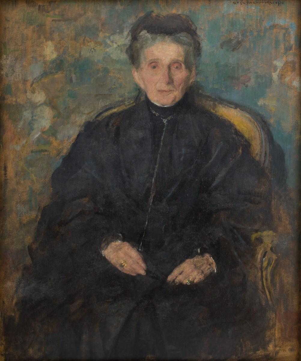 """Olga Boznańska, """"Portret Jadwigi z Sanguszków Sapieżyny"""", 1910, wł. Muzeum Narodowe w Krakowie (źródło: materiały prasowe organizatora)"""