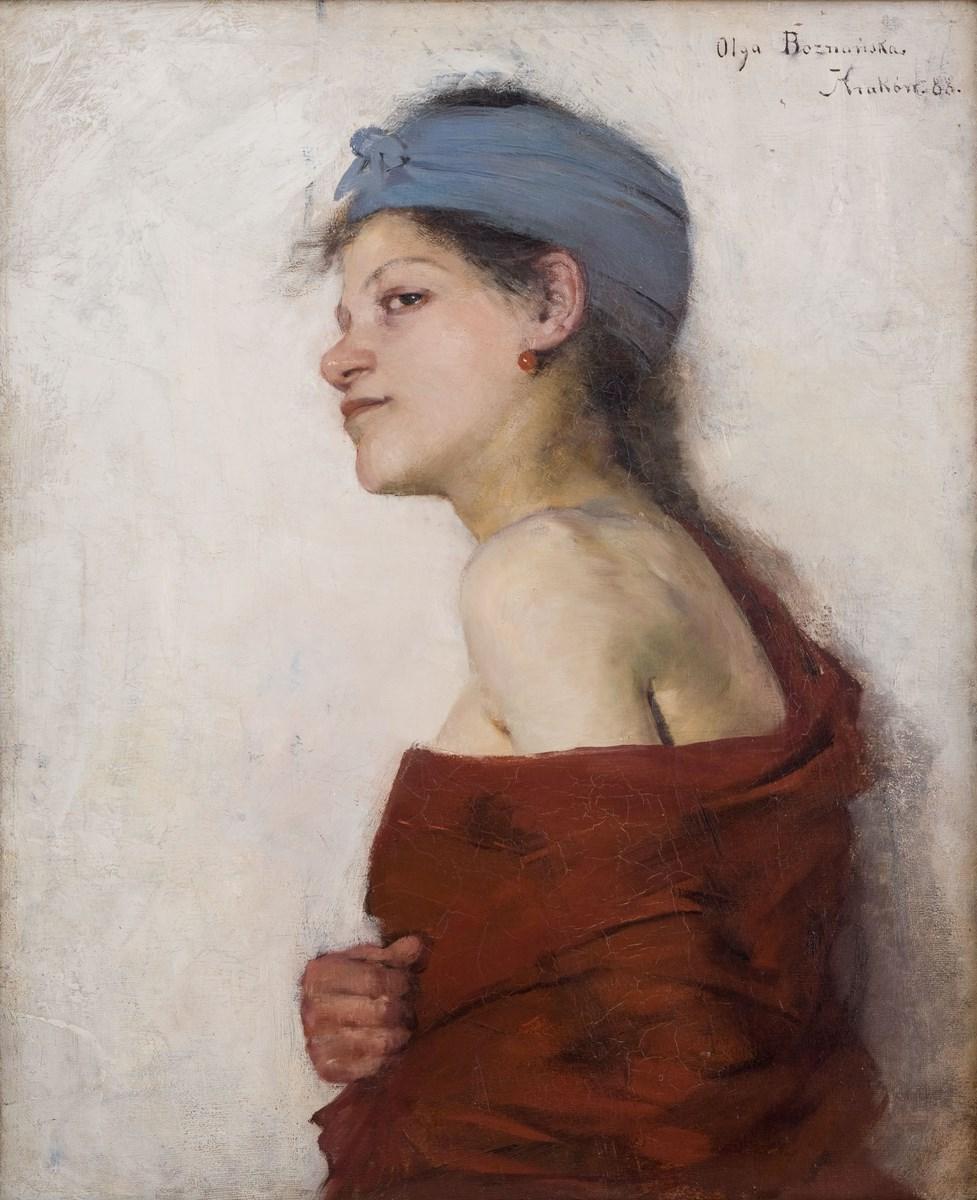"""Olga Boznańska, """"Portret kobiety (Cyganka)"""", 1888 ,wł. Muzeum Narodowe w Krakowie (źródło: materiały prasowe organizatora)"""