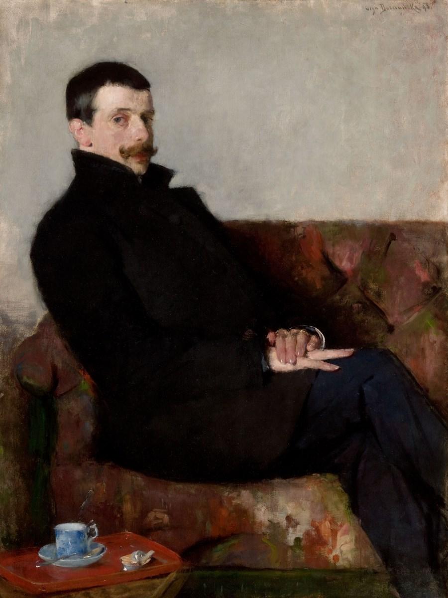 """Olga Boznańska, """"Portret Pawła Nauena"""", 1893, wł. Muzeum Narodowe w Krakowie (źródło: materiały prasowe organizatora)"""