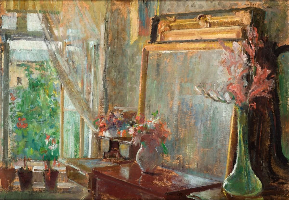 """Olga Boznańska, """"Wnętrze"""", 1906, wł. Muzeum Narodowe w Krakowie (źródło: materiały prasowe organizatora)"""