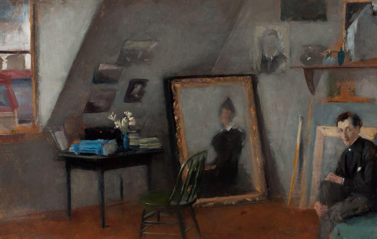 """Olga Boznańska, """"Wnętrze pracowni"""", 1895, wł. Muzeum Narodowe w Warszawie (źródło: materiały prasowe organizatora)"""