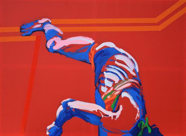 """XY ankamierzejewska, """"Najlepszy obraz na wystawie"""", 2014, technika własna, 140x190 cm (źródło: materiały prasowe organizatora)"""