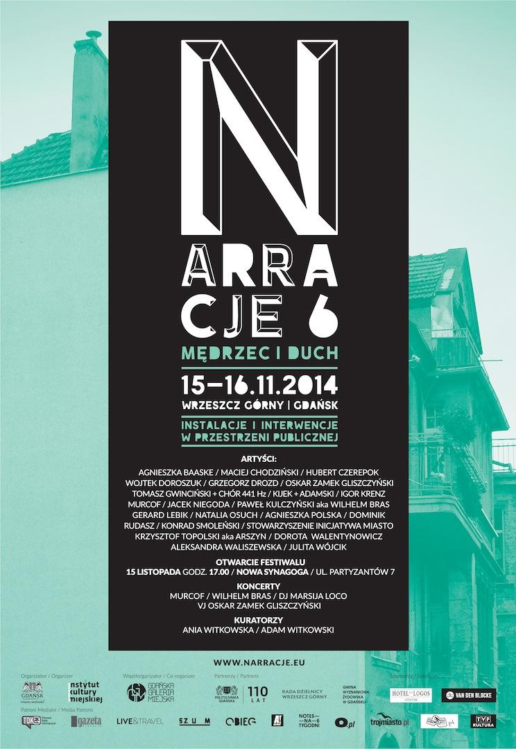 6. Festiwal Narracje we Wrzeszczu Górnym, plakat (źródło: materiały prasowe organizatora)