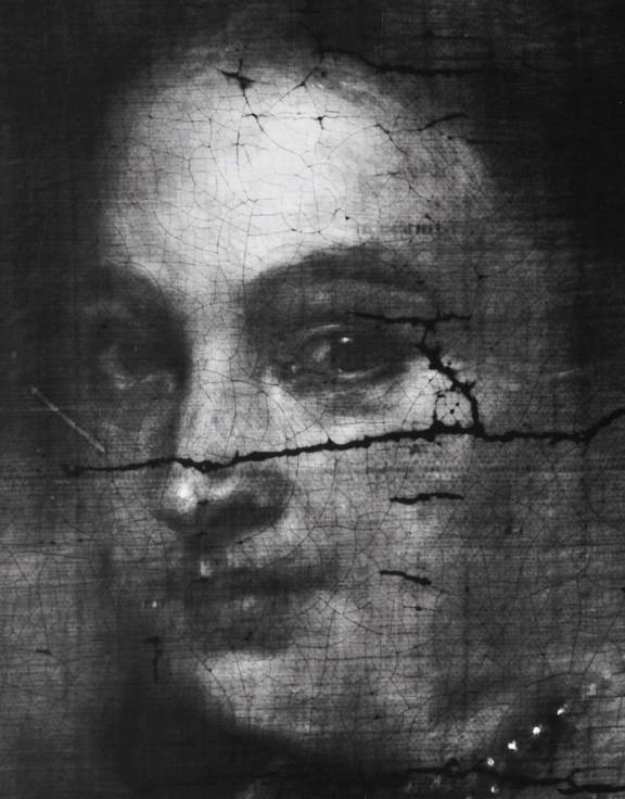 Wydział Konserwacji i Restauracji Dzieł Sztuki. Anna Selerowicz, Portret drugiej żony Sebastiana Leerse. Fragment rentgenogramu (źródło: materiały prasowe organizatora)