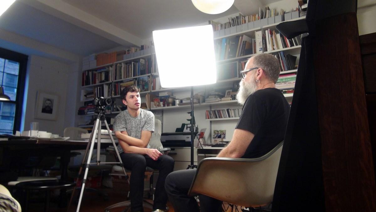 Karol Radziszewski in conversation with AA Bronson, NYC, 2011, fot. Johan Decaix (źródło: materiały prasowe organizatora)