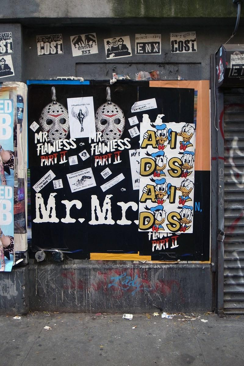 """Karol Radziszewski, """"AIDS"""", plakat, Nowy Jork (źródło: materiały prasowe organizatora)"""