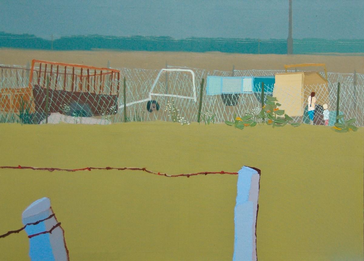 """Wydział Malarstwa. Magdalena Jędrzejczyk, """"Eternit III"""", 150x110 cm, olej na płótnie (źródło: materiały prasowe organizatora)"""