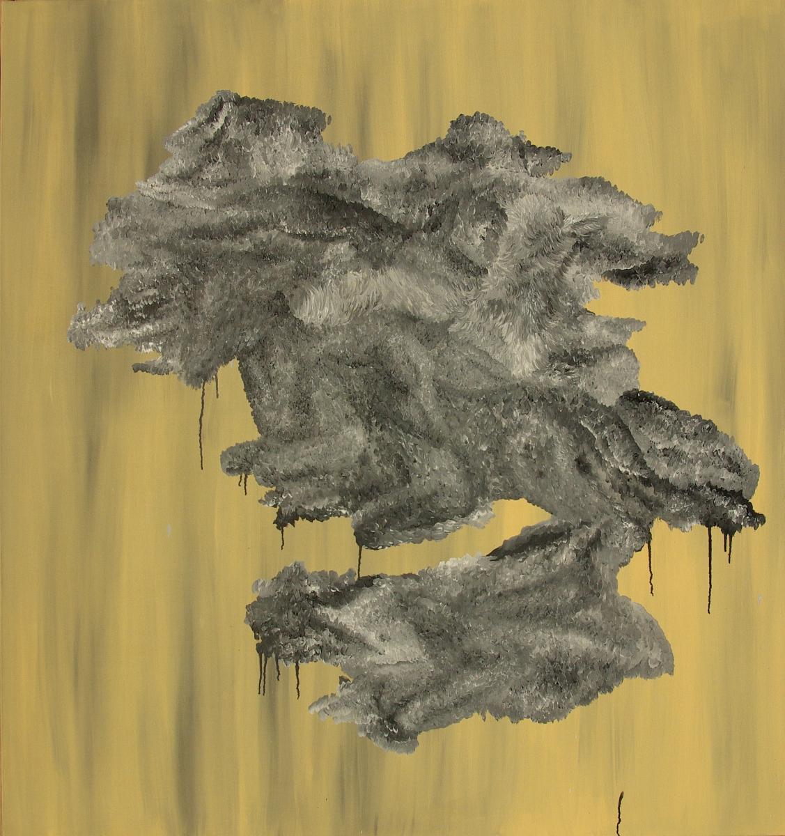 """Małgorzata Wielek-Mandrela, """"Krajobraz zwierzęcy"""", 150x140 cm, 2012 (źródło: materiały prasowe organizatora)"""