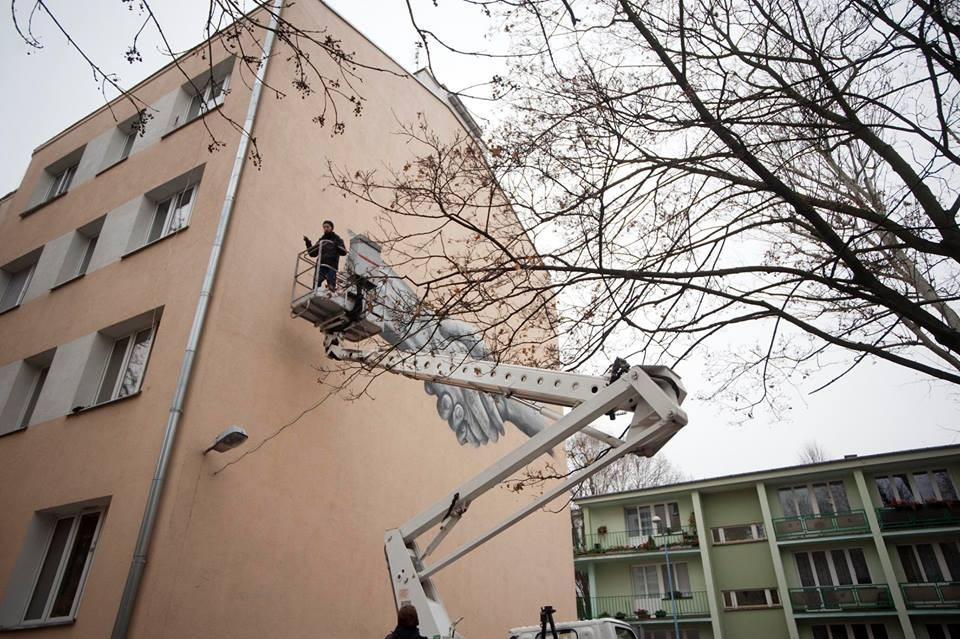 Belgijski mural przy ulicy Dunajeckiej 11 w Warszawie, Belgijska Izba Gospodarcza (źródło: materiały prasowe)