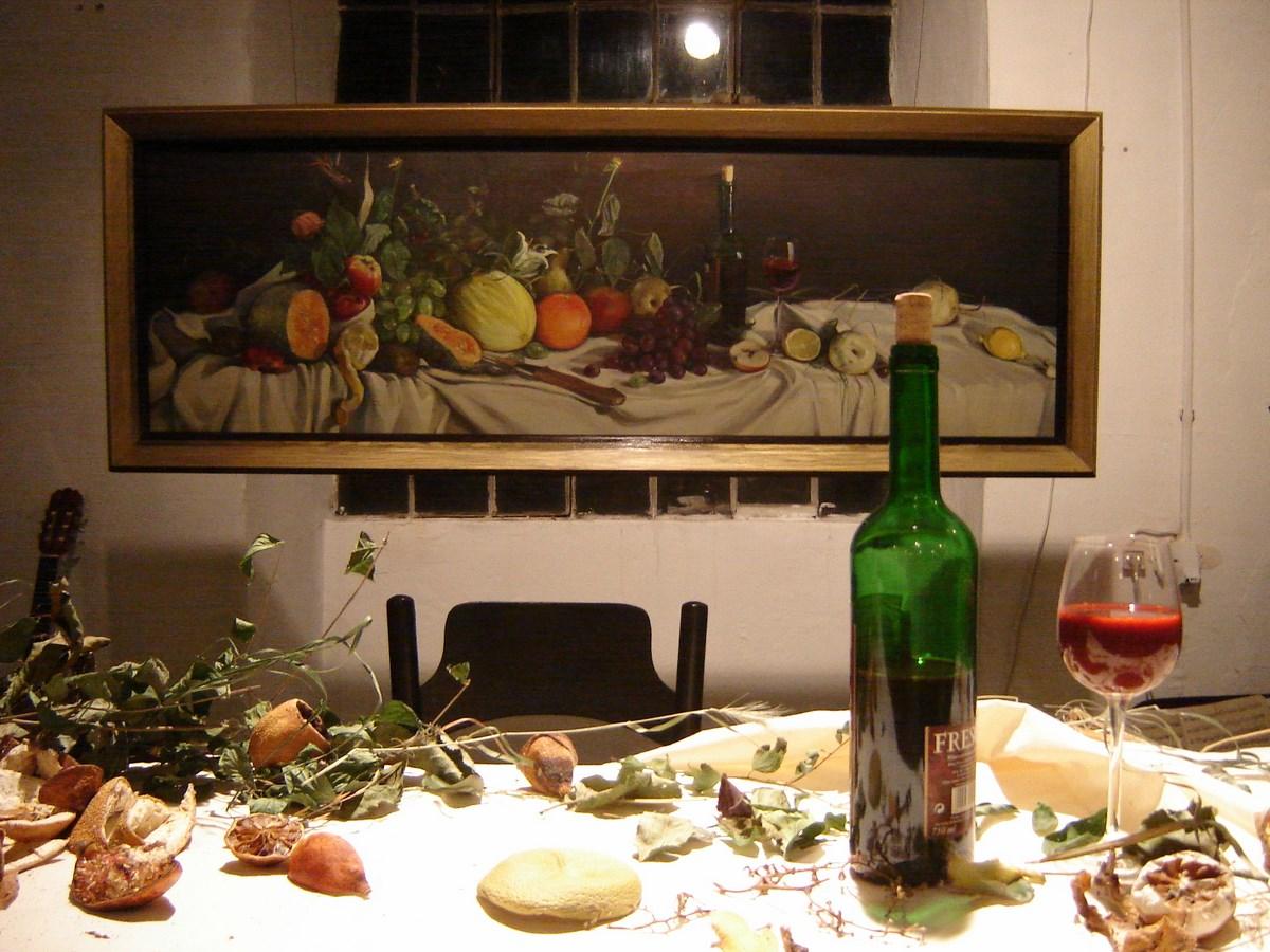 """Anna Adamiak, """"Wieczerza"""", Łódź, 2009, dokumentacja, fot. Archiwum artystki (źródło: materiały prasowe organizatora)"""