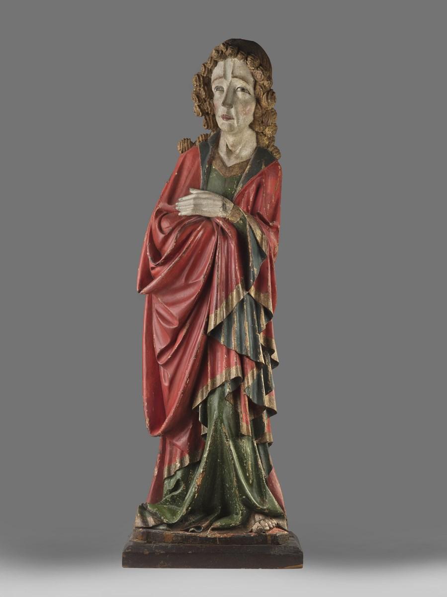 """Artysta nieznany, """"Portret trumienny nieznanej kobiety z okolic Dolska"""", ok. 1670; olej; blacha nr inw. MNP Mp 2471 (źródło: materiały prasowe organizatora)"""