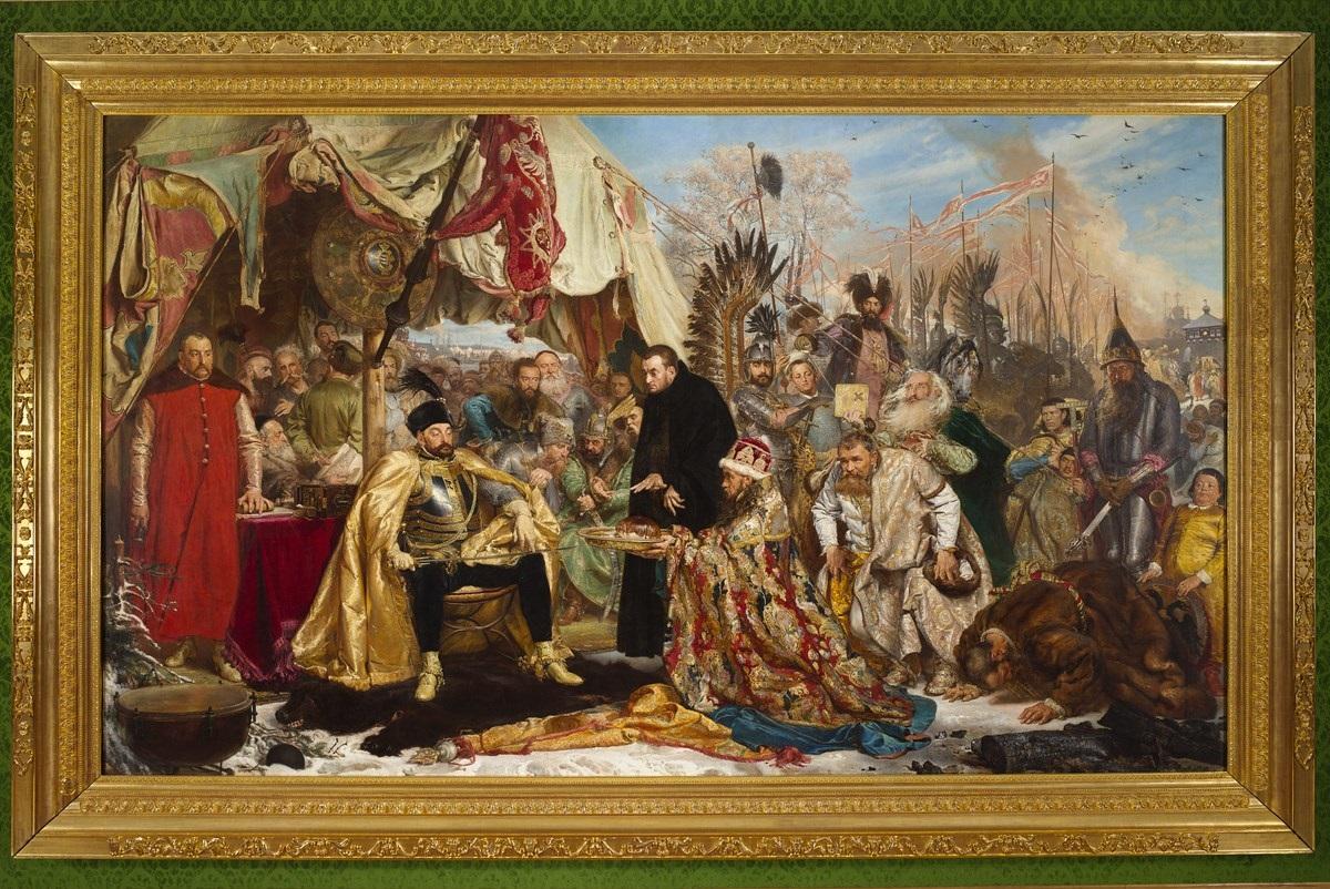 """Jan Matejko (1838–1893), """"Stefan Batory pod Pskowem, 1870–1872, Zamek Królewski w Warszawie, nr inw. ZKW/1047 (źródło: materiały prasowe organizatora)"""