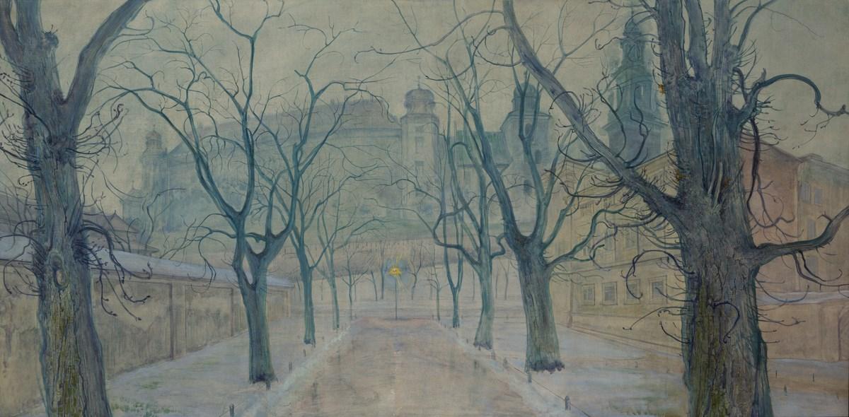 """Stanisław Wyspiański (1869–1907), """"Planty o świcie"""", 1894, Własność prywatna, depozyt w Muzeum Narodowym w Krakowie, nr inw. ND 7791 (źródło: materiały prasowe organizatora)"""