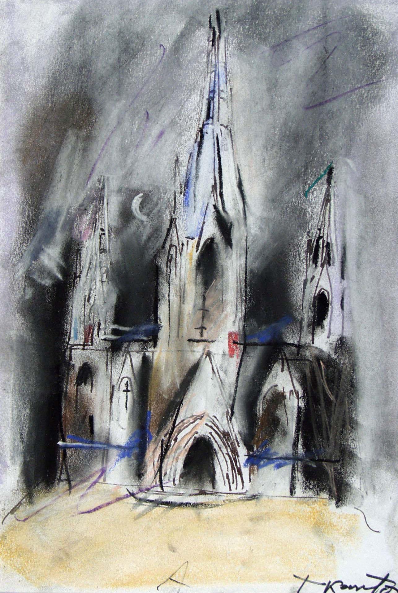 """Tadeusz Kantor, """"Katedra"""", Barcelona, A, 1987 technika mieszana, 30x20 cm (źródło: materiały prasowe organizatora)"""