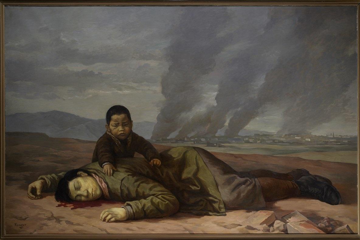 """Wojciech Fangor (ur. 1922), """"Matka Koreanka"""", 1951, Muzeum Narodowe w Warszawie, nr inw. MPW 1777 MNW (źródło: materiały prasowe organizatora)"""