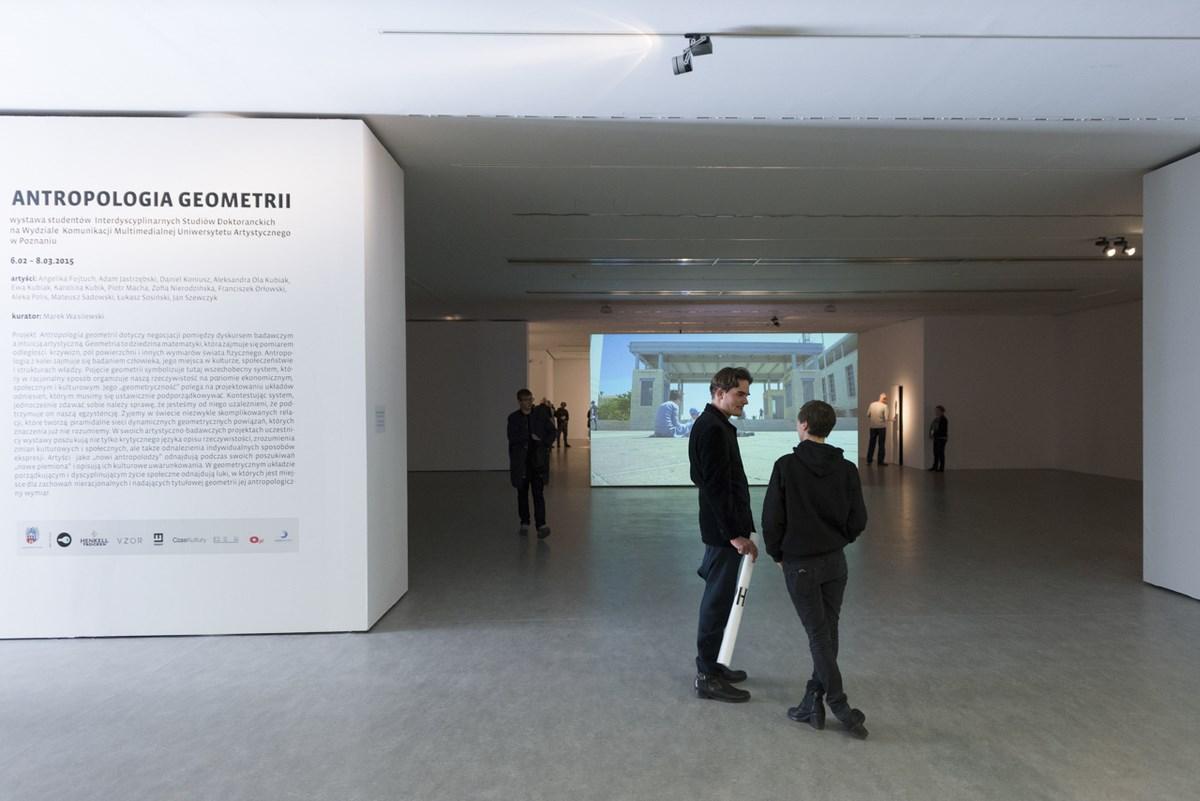 """Wernisaż wystawy """"Antropologia geometrii"""", Centrum Sztuki Współczesnej Znaki Czasu w Toruniu, fot. Tytus Szabelski (źródło: materiały prasowe organizatora)"""