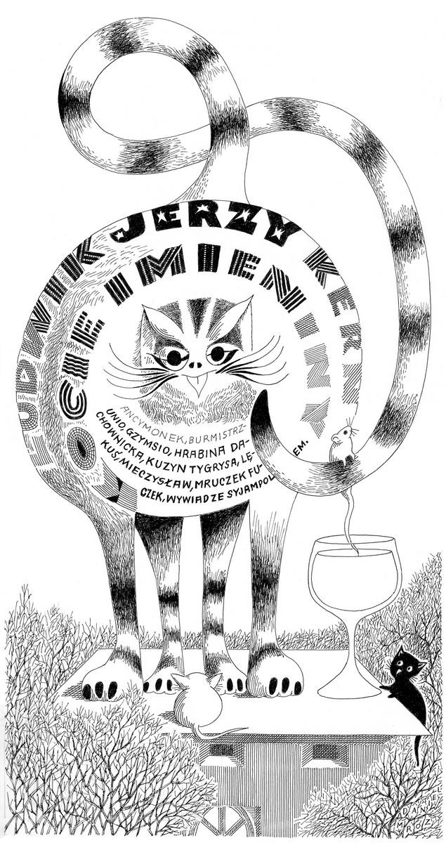 """Daniel Mróz – Ludwik Jerzy Kern, """"Kocie imieniny"""", lata 90. (źródło: materiały prasowe)"""