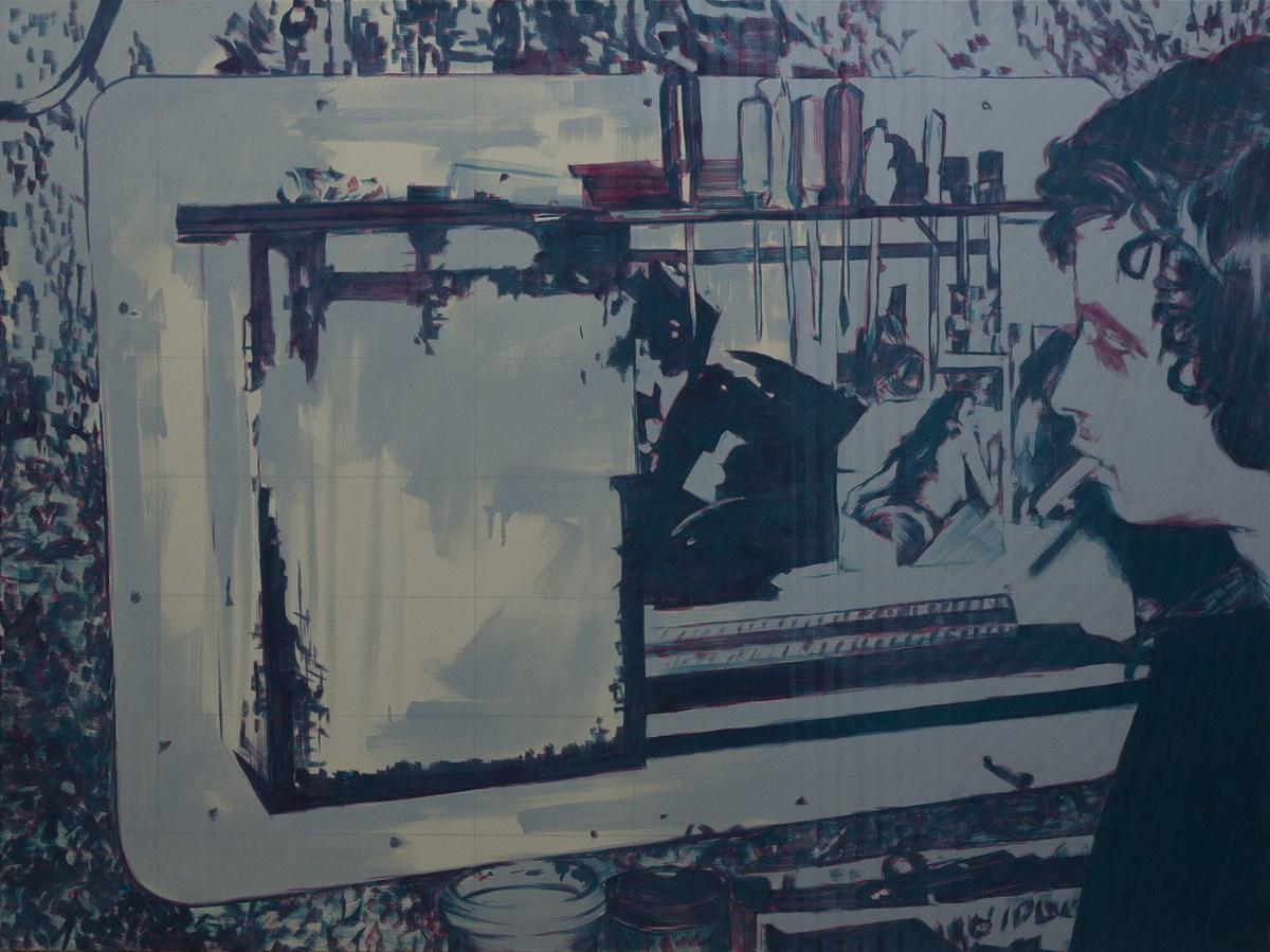"""Bartek Materka, """"bez tytułu"""", olej na płótnie, 2012 (źródło: materiały prasowe organizatora)"""