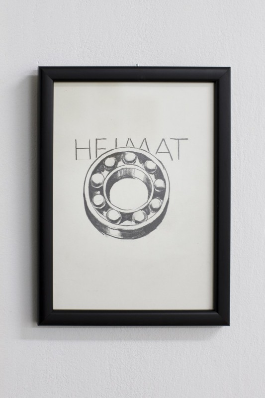 """Wilhelm Sasnal, """"Heimat"""", rysunek, 2014 (źródło: materiały prasowe organizatora)"""