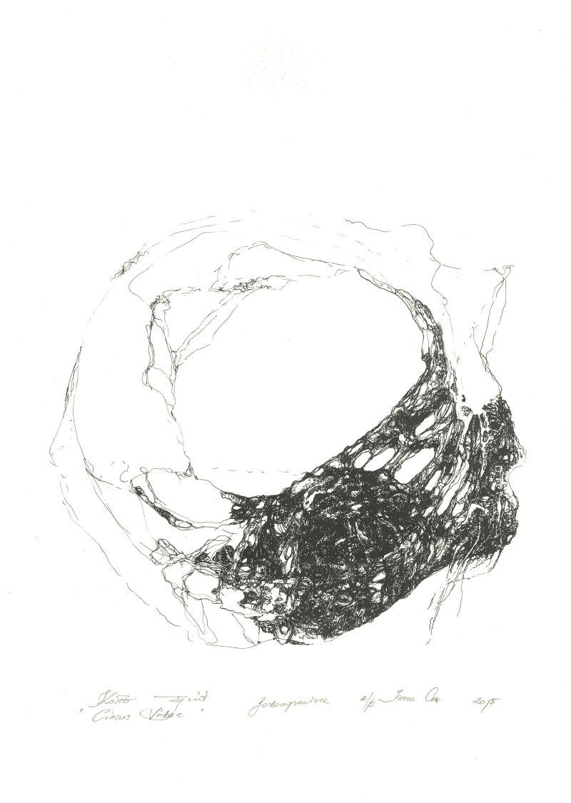 """Iwona Cur, """"Koło życia"""", fotograwiura (źródło: teka kolekcjonerska organizatora)"""