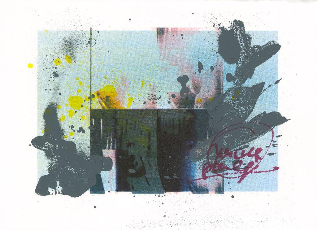 "Marta Kubiak, ""Punkt widzenia B"", serigrafia (źródło: teka kolekcjonerska organizatora)"