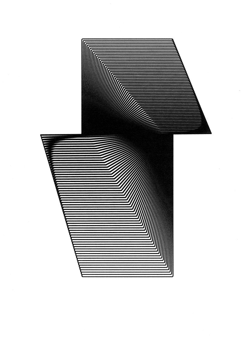 "Michał Kochański, ""Abstrakcja 6"", druk UV (źródło: teka kolekcjonerska organizatora)"