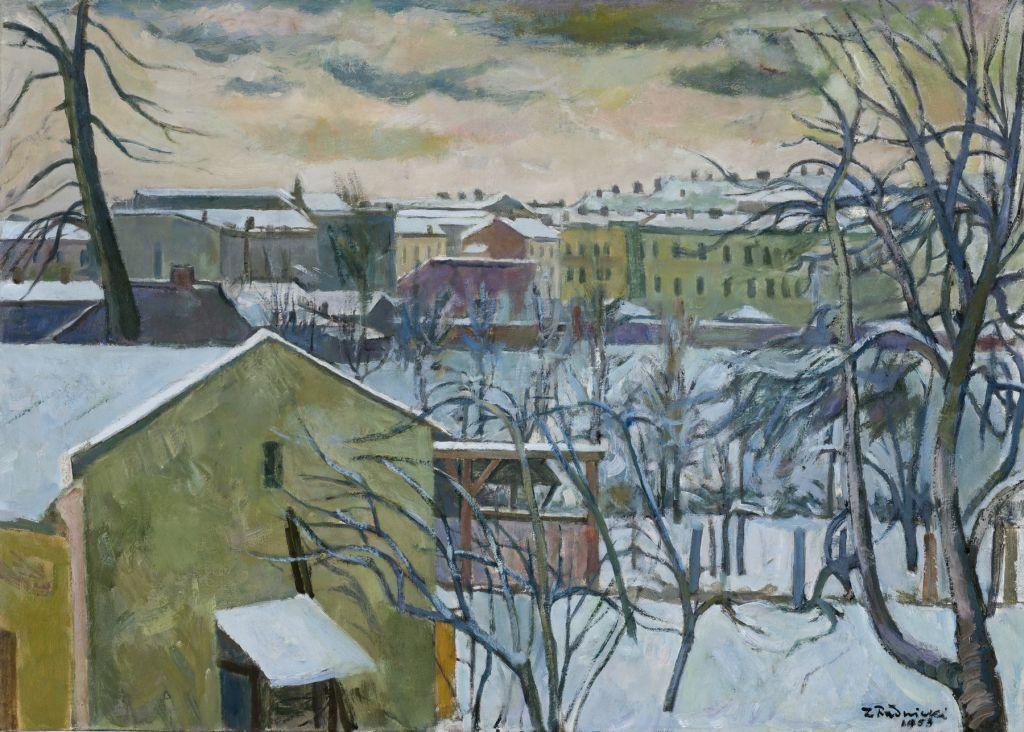 """Zygmunt Radnicki, """"Motyw krakowski"""", 1953, olej, płótno, Muzeum Narodowe w Krakowie (źródło: materiał prasowy organizatora)"""