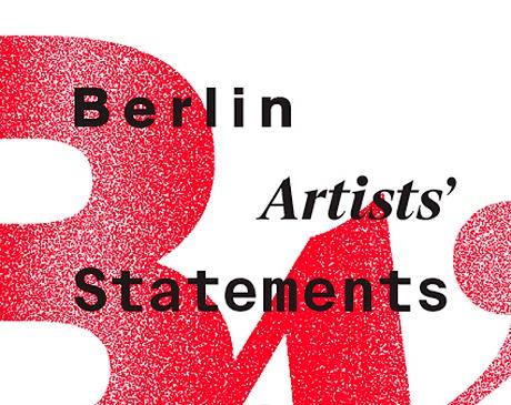 """Fragment plakatu do wystawy """"Berlin Artists Statements"""", Katowice (źródło: materiały prasowe organizatora)"""