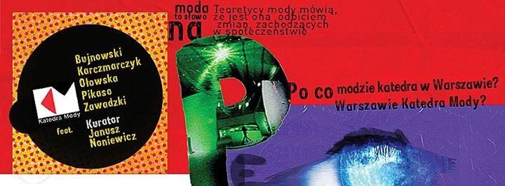 """Wystawa """"Moda to słowo na P"""" – plakat (źródło: materiał prasowy organizatora)"""